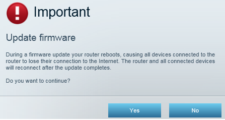 Linksys Smart Wi-Fi router firmware update