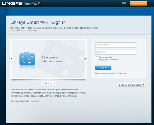 linksys smart wifi login