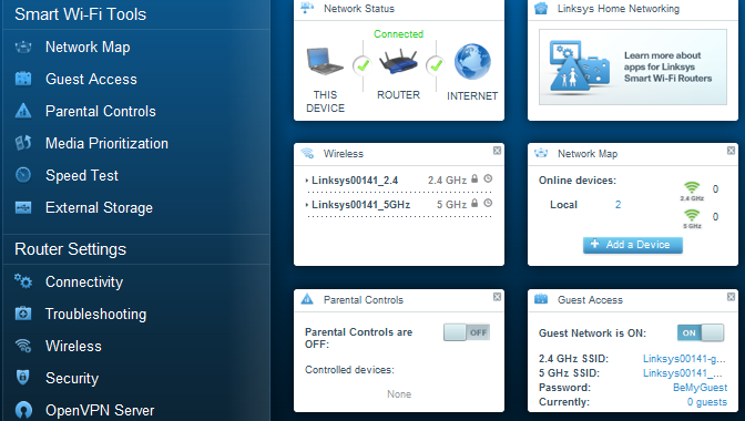 Linksys Smart Wi-Fi Router Setup Through smart setup wizard